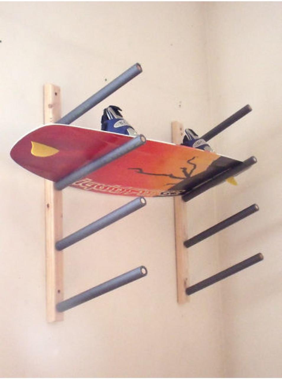 wood wakeboard wall rack