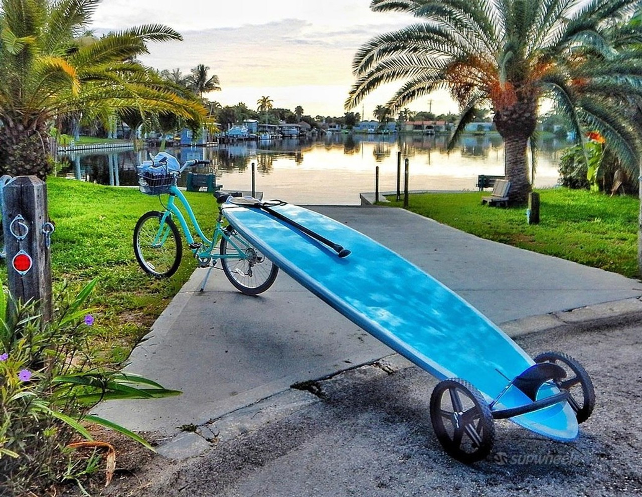 Sup Bike Trailer Tow Paddleboard Behind Bike