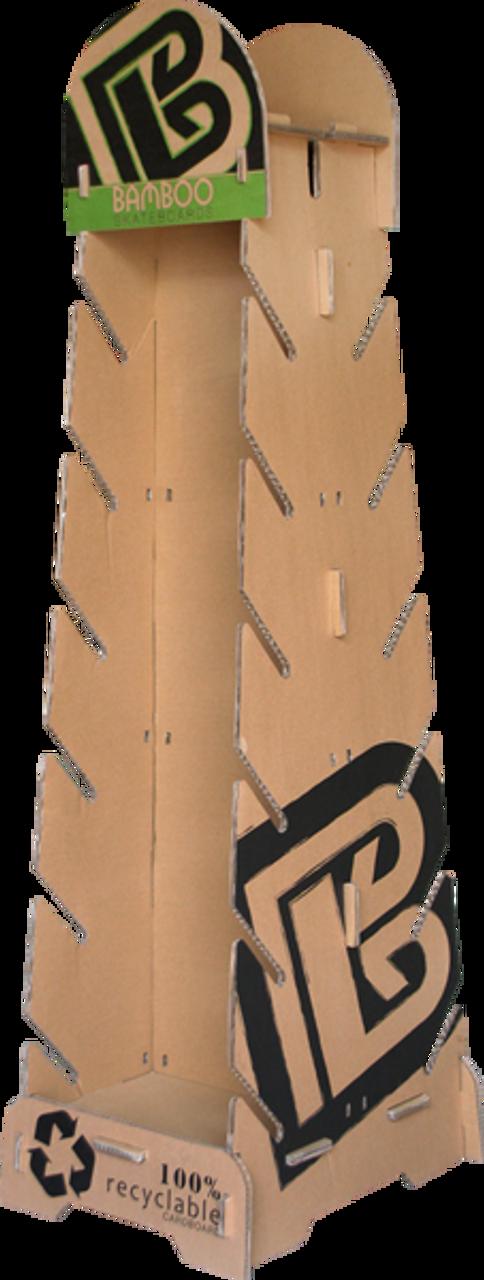 100% recycled cardboard skateboard rack