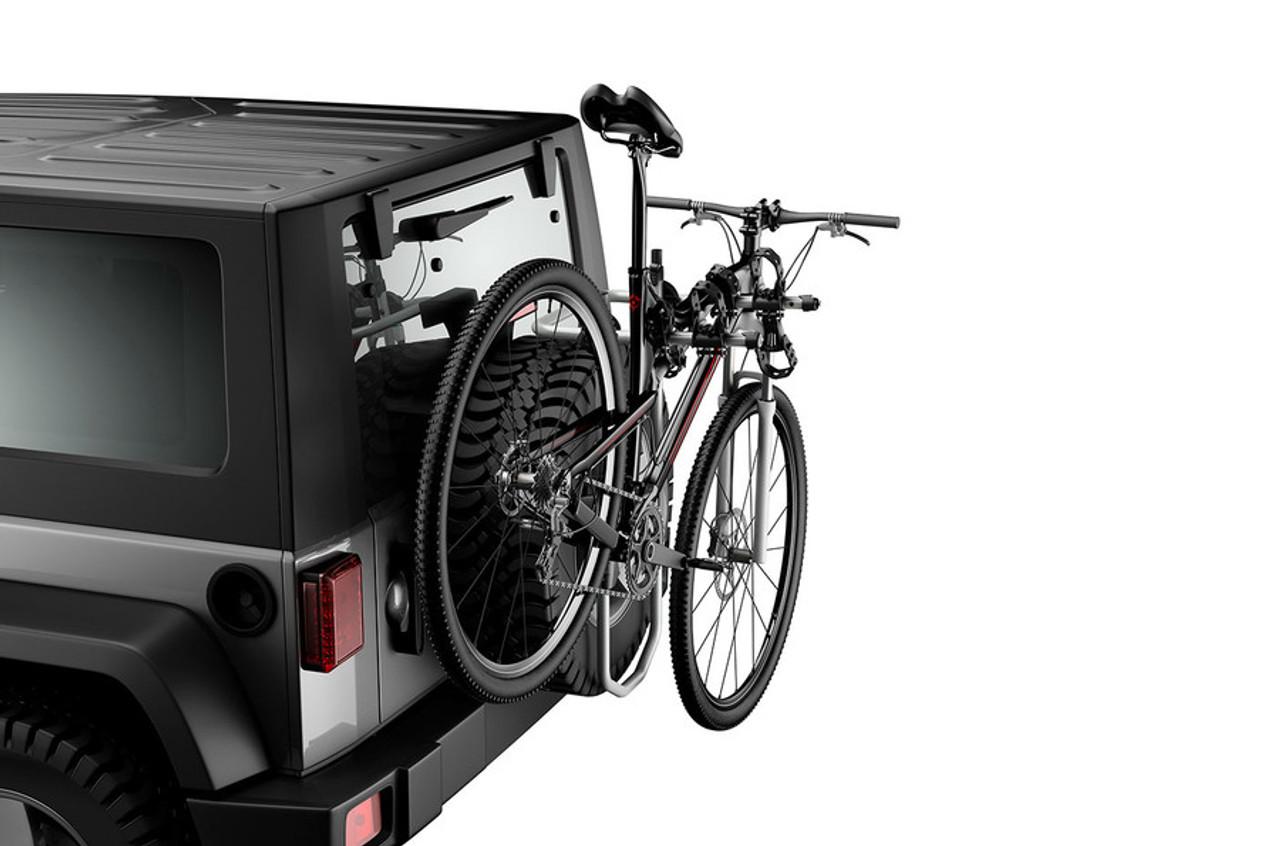 Jeep Wrangler Kayak Rack >> Thule Spare Me Pro   Spare Tire Mount Bike Rack ...