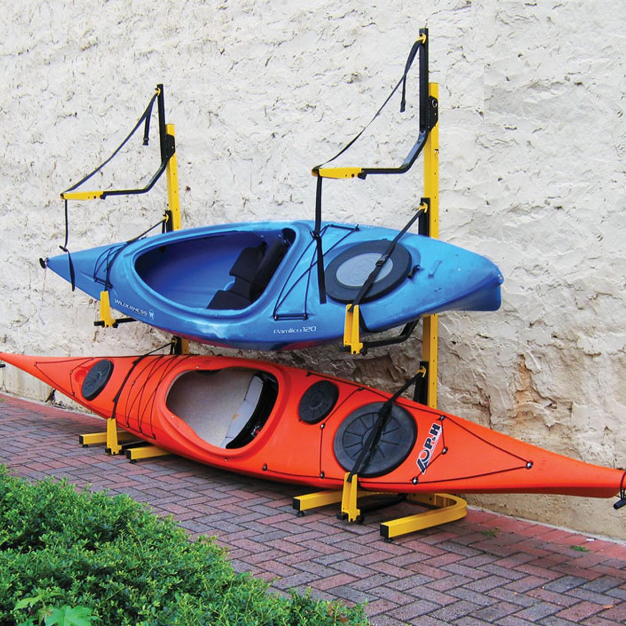 Marine Grade Triple Kayak Storage Rack