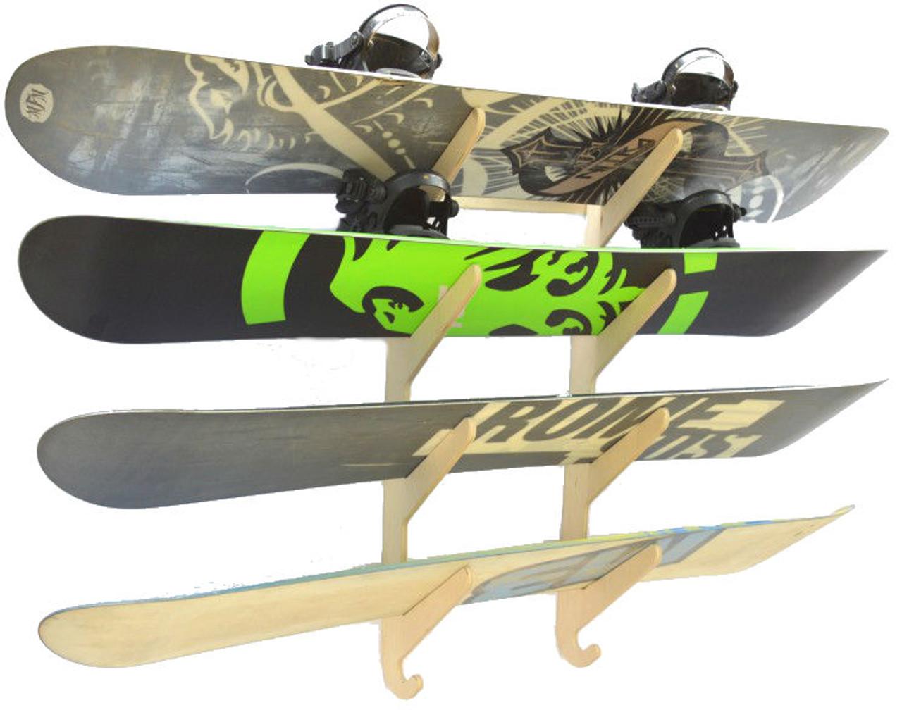 Premium Snowboard Wall Rack Baltic Birch Wood