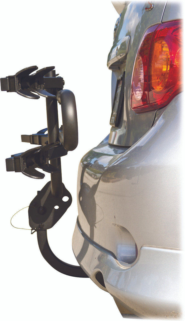 Compact 2 Bike Hitch Rack Wheel Mount Carrier