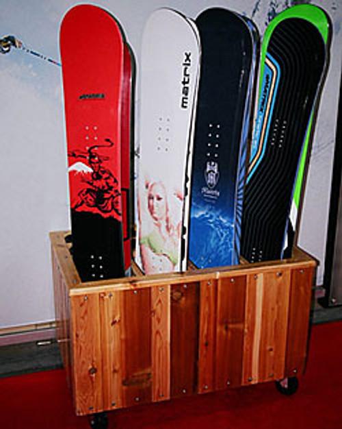 furniture grade snowboard rack
