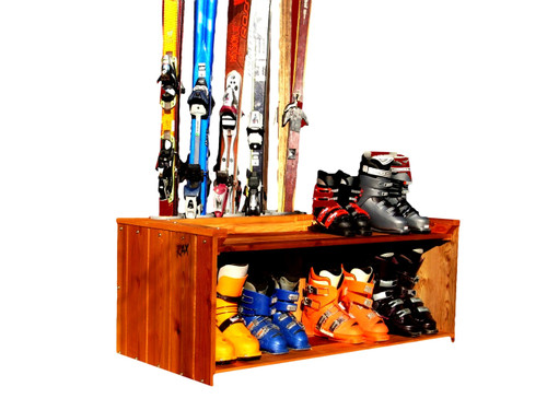 freestanding ski and boot rack for front hallway entrance