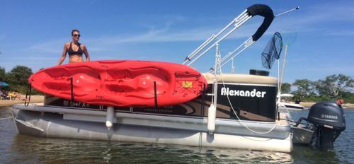 Kayak Rack for Pontoon Boats | ToonRacker