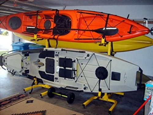 freestanding kayak fishing storage rack for 4 kayaks