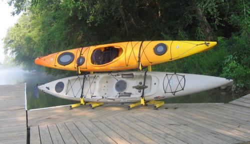 Fishing Kayak Freestanding Rack | 2 Kayak Storage