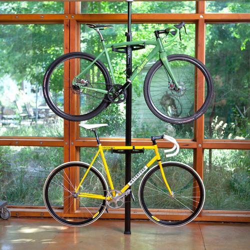 spring loaded freestanding bike rack  sc 1 st  StoreYourBoard & Two Bike Freestanding Storage Rack - StoreYourBoard.com