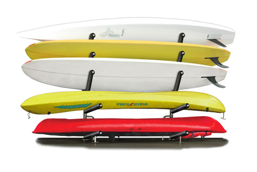 stainless steel outdoor kayak and paddleboard rack