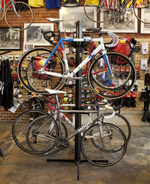 retail bike freestanding display rack