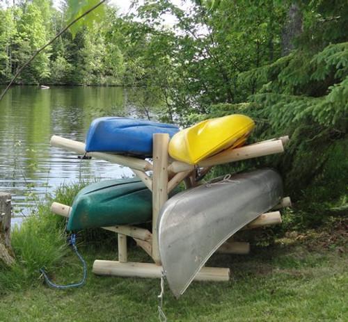 four kayak log rack