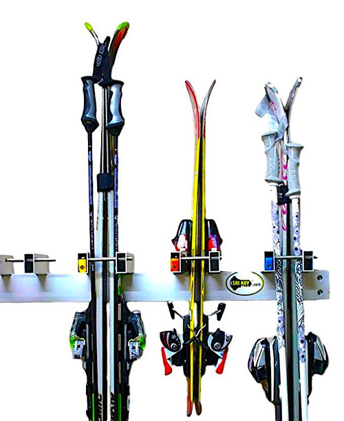 Locking Ski Wall Rack | Ski Resort Rack