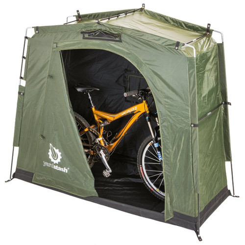 full-zip outdoor bike storage