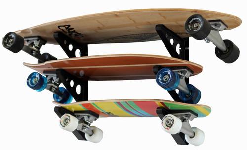 skateboard triple storage wall rack