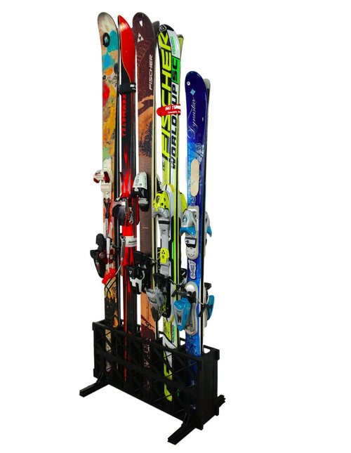 how to store your skis vertically