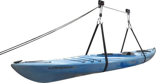 overhead hoist for kayaks, non adjustable straps