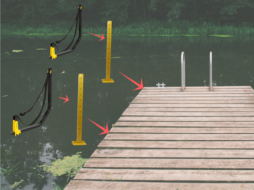 customizable kayak dock rack
