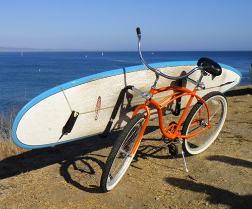 longboard surf bike rack