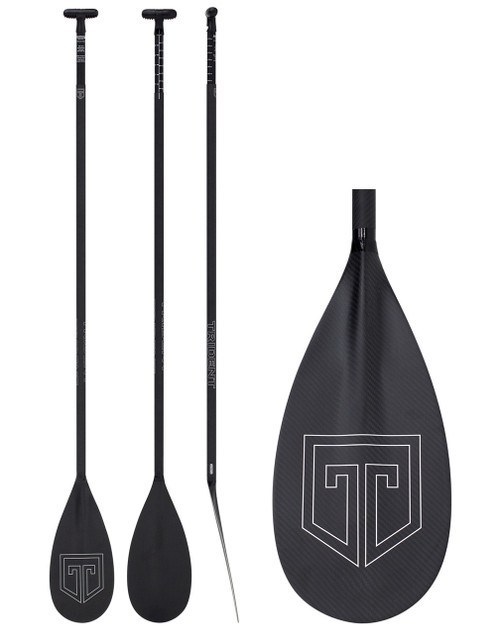 Trident Adjustable Full Carbon SUP Paddle | Lever Lock
