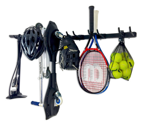 Omni Sports Equipment Rack | Compact | Wall Mounted Home & Garage Storage System