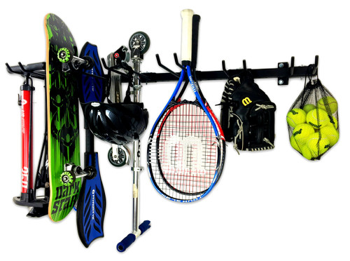 Omni Sports Equipment Rack | Max | Wall Mounted Home & Garage Storage System