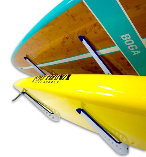 Adjustable Metal SUP Wall Rack | 2 Paddleboard Storage