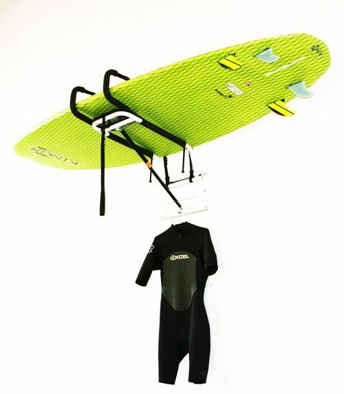 Hydraulic SUP Lift | Paddleboard Wall and Ceiling Storage