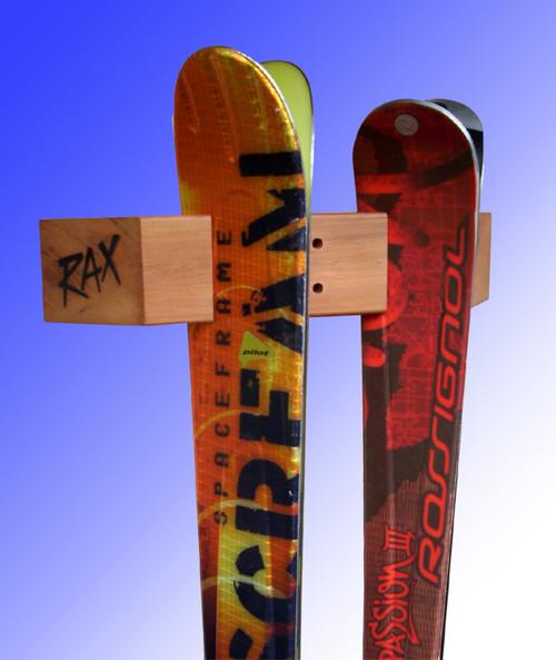 two ski display and storage rack rax