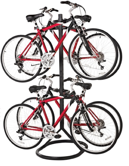 garage free standing bike rack | 4 bikes