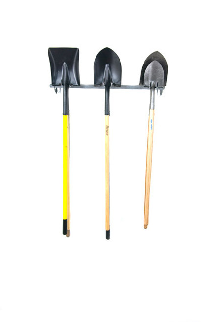 hanging shovel rack