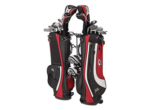 Golf Garage Rack that holds 2 bags