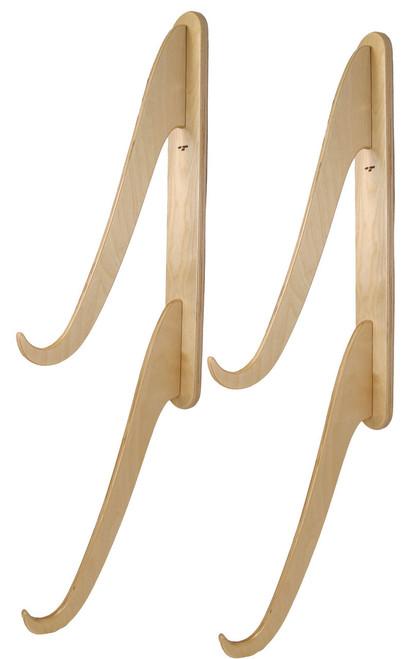 Double wooden surfboard snowboard wakeboard wall rack