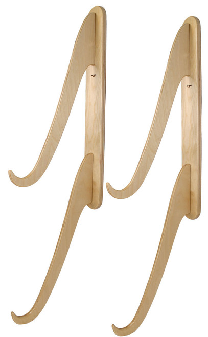Double wooden wakeboard snowboard wakeboard wall rack