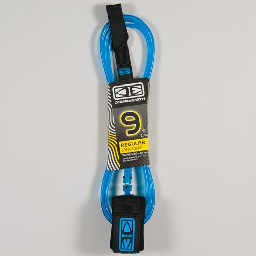 9 ft moulded longboard leash ocean and earth
