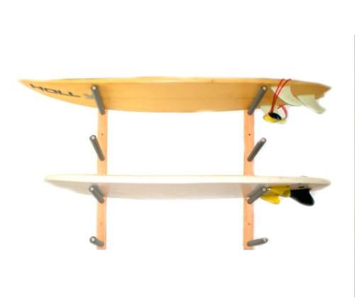 Wood Surfboard Rack | 4 Board Wall Rack