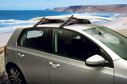simple roof rack for SUP transport