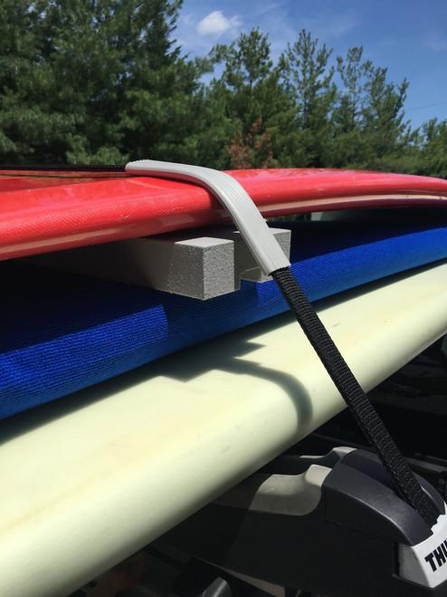 foam block separator for surfboard roof rack