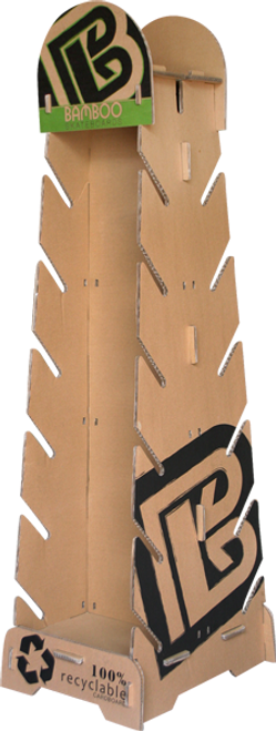 100% recycled cardboard skateboard rack