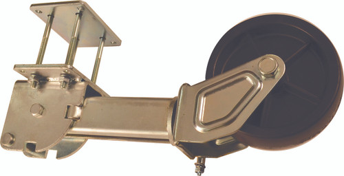 a trailer tongue kickstand used to support a malone microsport kayak trailer