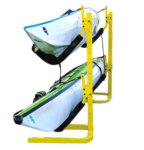 2 boat kayak rack floor stand