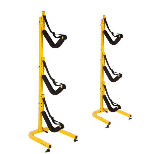 triple kayak floor stand suspenz ez rack