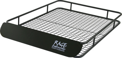 Cargo roof basket with wind fairing