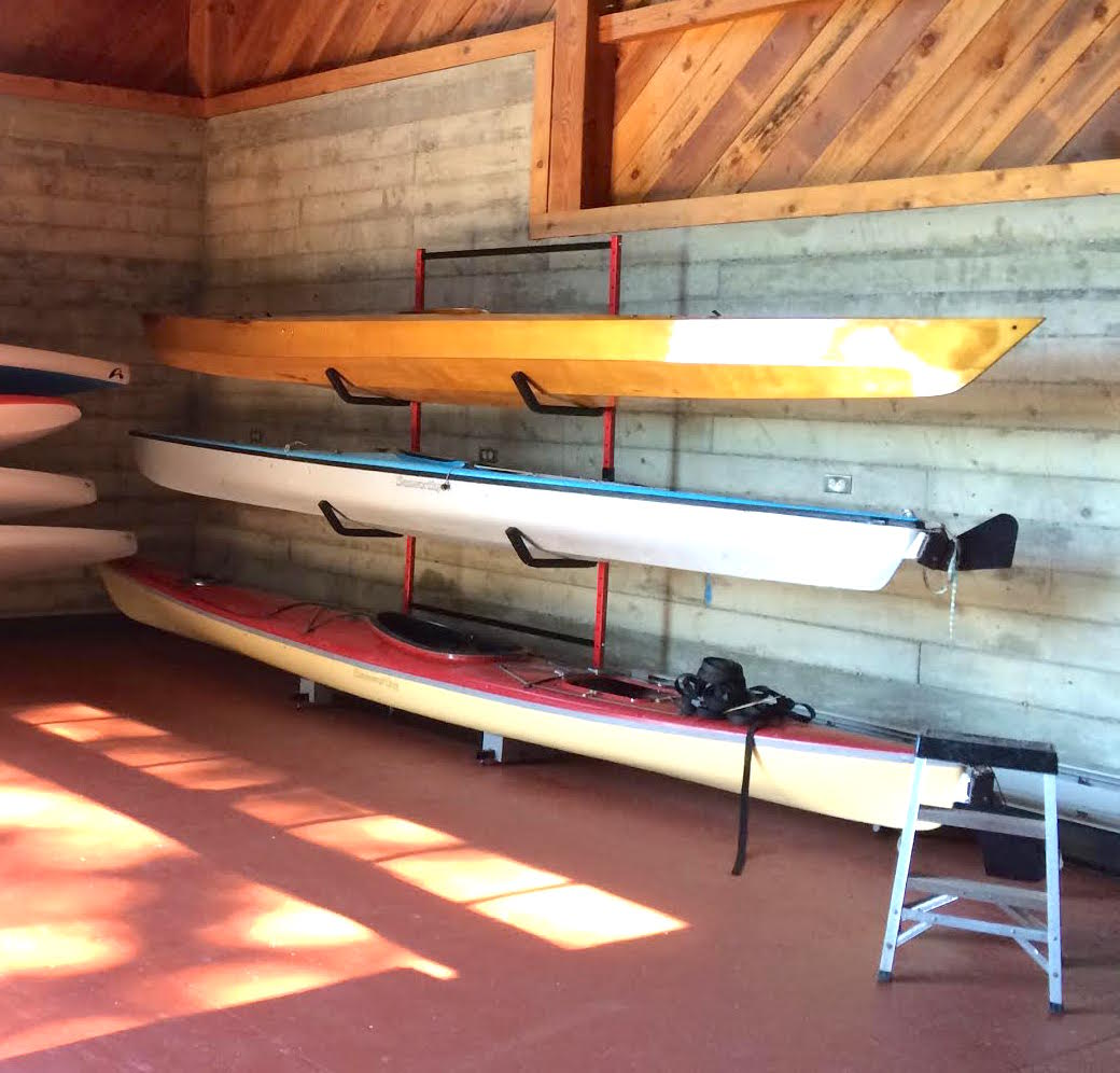 3 Kayak Floor Storage Racks