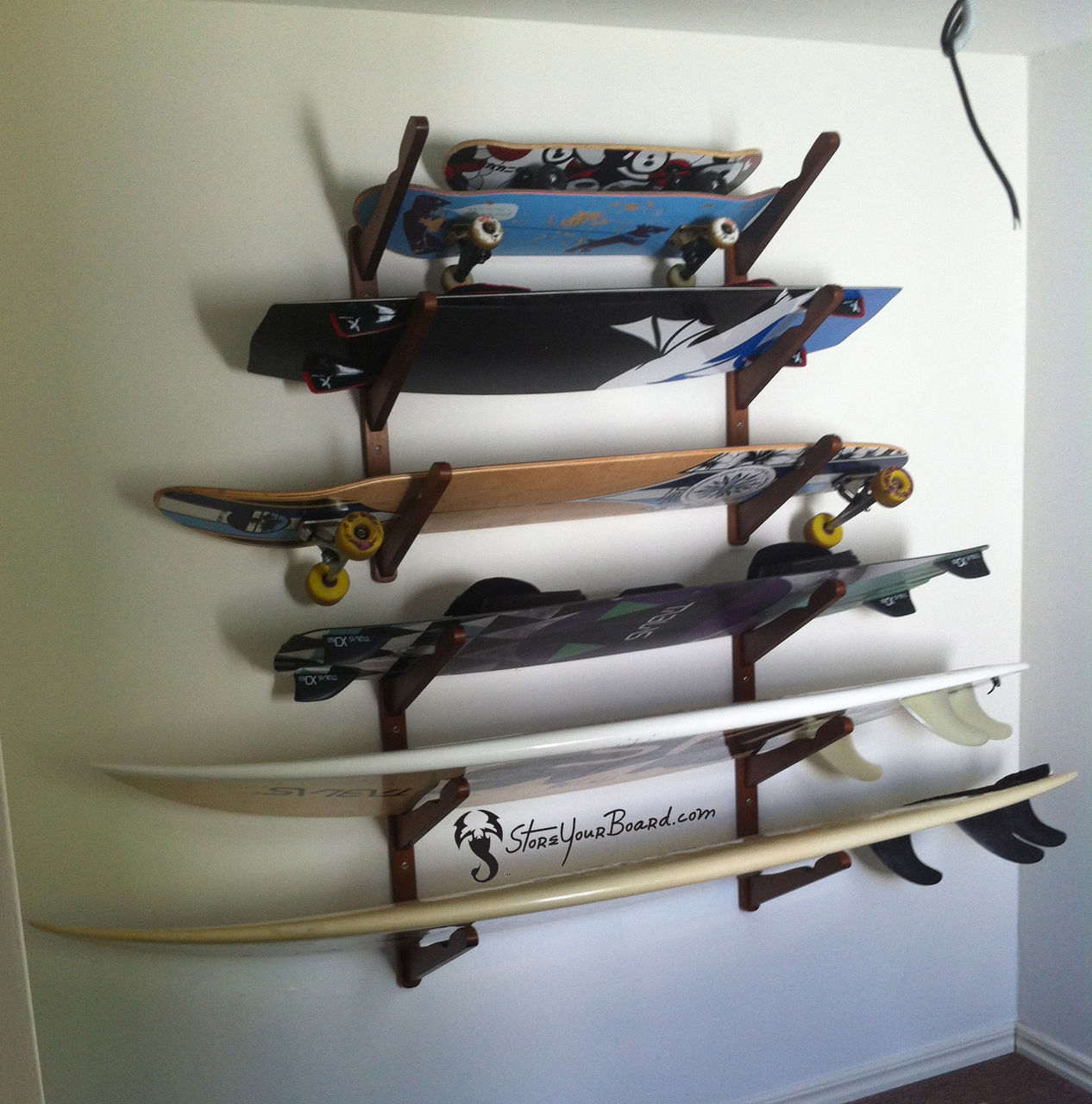 triple wakeboard storage rack & Triple Wakeboard Home Storage Rack - StoreYourBoard.com