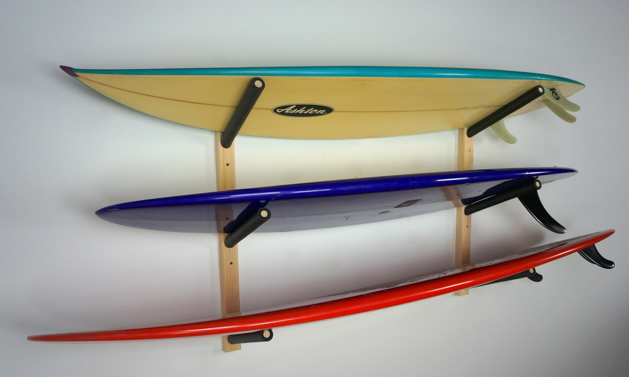 Triple Surfboard Storage Rack