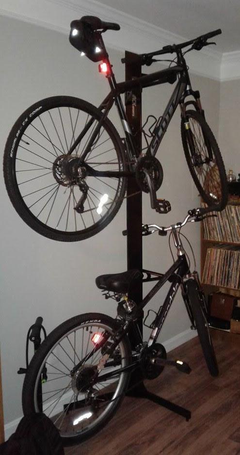 two bike freestanding storage rack & Two Bike Freestanding Storage Rack - StoreYourBoard.com