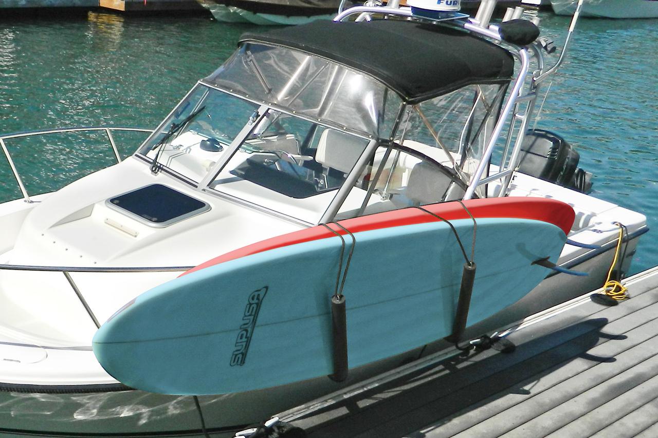 Stainless Steel SUP Boat Rack | Rail Mounted - StoreYourBoard.com on board cart, carrier cart, collapsible dock cart, four paddlewheel cart, foldable kayak cart, skate cart, bike tow cart,