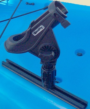 Kayak Wall Mount >> Universal Kayak Fishing Rod Holder | Gunnel or Track Mounted - StoreYourBoard.com