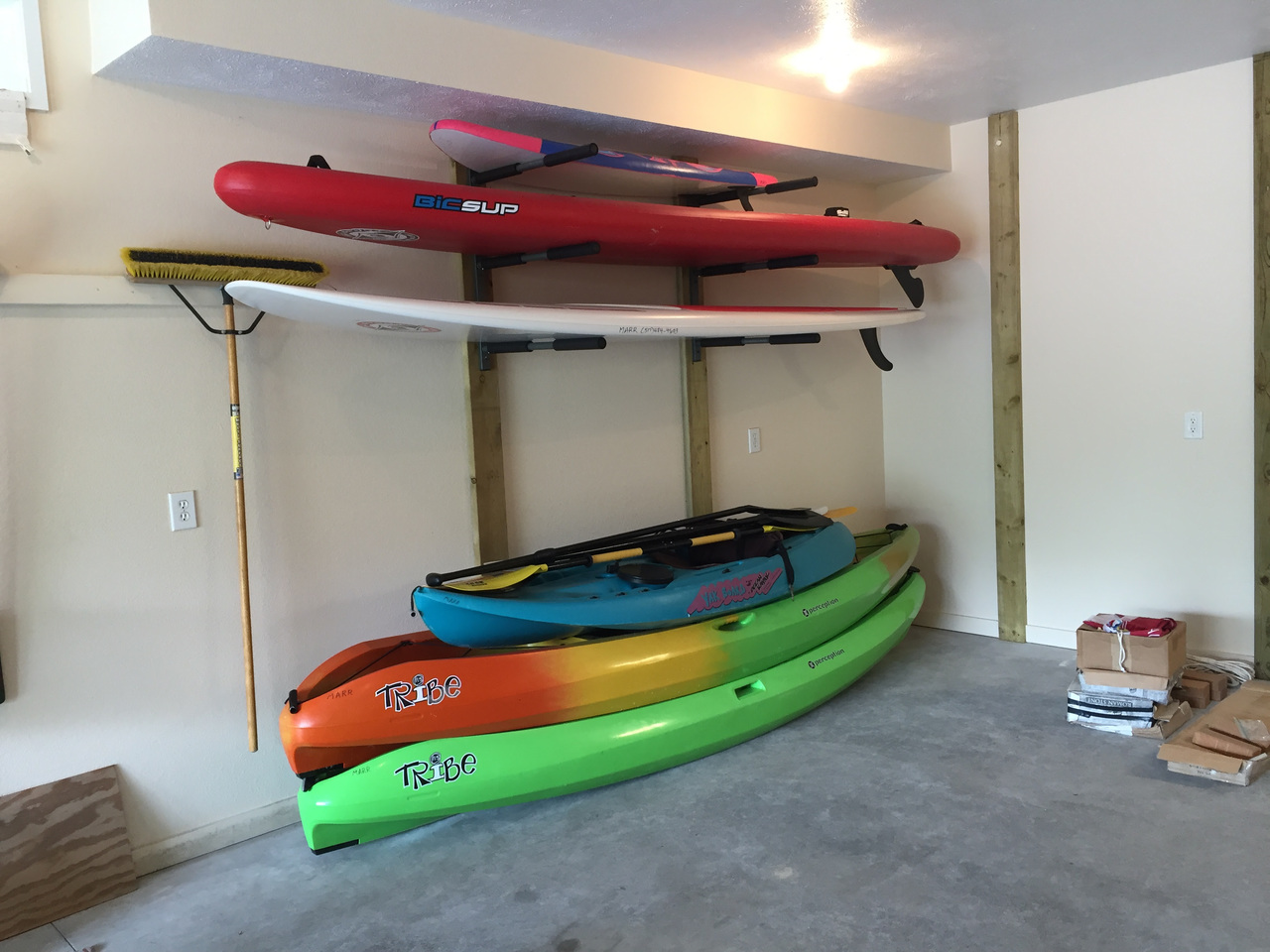 Garage Paddleboard Storage Rack